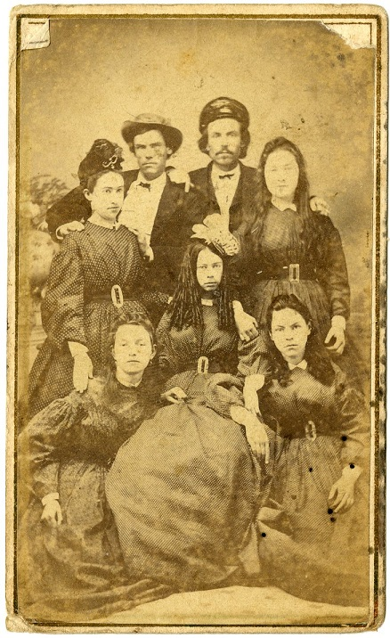 Addie Manship, center front, ca. 1865. Call number Z/1129.000 MDAH collection.