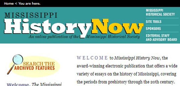 Teachers & Students | Mississippi Department of Archives & History